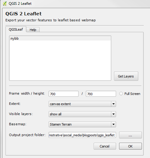 It is incredibly easy to create a Leaflet map using QGIS